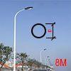 Cột đèn tròn côn liền cần 8M TCC8