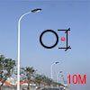 Cột đèn tròn côn liền cần 10M TCC10